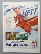 Original 1950 Mobil Ad GIVE YOUR CAR A FLYING HORSEPOWER LIFT.. MOBILGAS SPECIAL