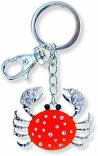 Puzzled Red Crab Sparkling Charm Elegant Keychain NEW Keyring Jewelry