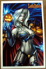 SUPER HOT SEXY LADY DEATH READY TO LEAD LIMITED EDITION LITHOGRAPH - SIGNED