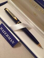 VINTAGE WATERMAN EXPERT 1 AQUAMARINE BLUE GT MECHANICAL PENCIL-FRANCE-BOXED-NEW