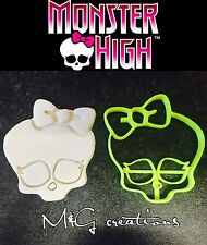 Monster High skull Uk Plastic Cookie Cutter Fondant Cake Decorating Cupcake