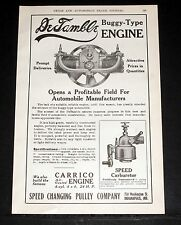 1908 OLD MAGAZINE PRINT AD, DeTAMBLE BUGGY-TYPE ENGINE, HIGH GRADE CONSTRUCTION!