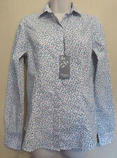 TM Lewin Woman UK8 EU36 US4 new Maxine shirt with teal/pink floral pattern