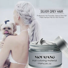 Fashion Natural Silver Hair Styling Wax Hair Modeling Pomades Gel Cream 120g