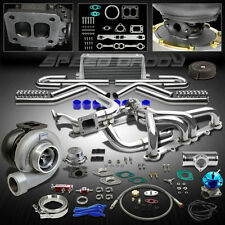 GT45 11PC T4 TURBO KIT+MANIFOLD+INTERCOOLER CHEVY SMALL BLOCK SBC CAMARO/PICKUP