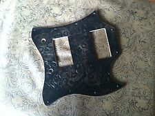 Hand Tooled/Carved Custom Leather Pickguard Gibson SG Standard Catacomb Skulls