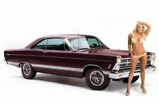 Ford Fairlane 427 Muscle Car Hot Girl Photo Print Silk POSTER 13x19