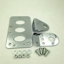 Chrome Vertical Custom Side Mount License Plate Bracket For H-D Bobber Chopper