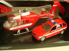 COFFRET HELICOPTERE POLICE ET BMW X3 POLICE AUTOMAX NEUF EN BOITE 1/43°