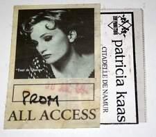 PATRICIA KAAS : vintage concert Pass BELGIQUE Namur 30/07/1994