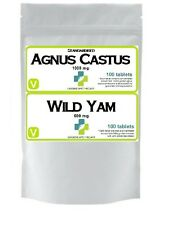 Lindens Agnus Castus / Mexican Wild Yam Combo - Menopause, Joint Health, Libido
