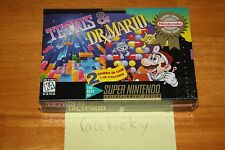 Tetris & Dr. Mario (SNES Super Nintendo) NEW SEALED V-SEAM, RARE!