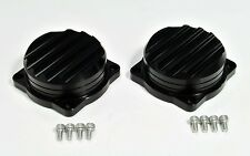 Triumph Bonneville  aluminum carb tops , carburetors or injection - black