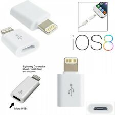 Micro USB to 8 Pin Lightning Adapter Switch Port Charge Data Sync For IPhone 5 6