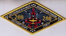 CVW-8 USS GEORGE W. BUSH 200 NIGHT TRAPS PATCH