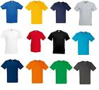Fruit of The Loom Valueweight T-Shirt V Neck Basic Plain V-Neck T Shirts Tee New