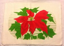 New Set Of Four Festive Christmas/Holiday Poinsettias Placemats