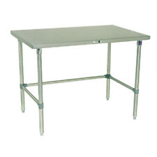 "John Boos ST6-3096GBK Work Table Galvanized Bracing 96""W x 30""D"