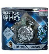 Doctor Who 10th Doctor's FOB Light Up Talking Pocket Watch Dr Gift NIP!