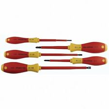Wiha 32091 5-Piece 1000-Volt Slotted and Phillips Insulated Screwdriver Set