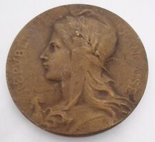FRANCE / MARIANNE ALLEGORY OF LIBERTY FRENCH BRONZE MEDAL by RASUMNY