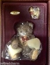 ❤ STEIFF & ENESCO 1970 Zotty Teddy Bear & Pewter Cat Porcelain Lt Ed NEW In BoX❤