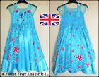 UK, Frozen Fever Princess Elsa Party Costume Cosplay Dress, 3/4/5/6/7/8/9/10 150