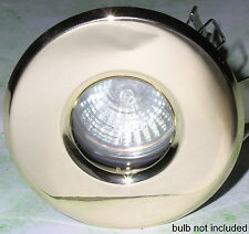 FIXED DOWNLIGHTS, brass effect die-cast shower/bathroom light ~ MR16 fit ~ IP54