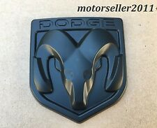 3D DODGE Matte Black Hood Or Trunk Tailgate Fenders Decal Badge Emblem 82x90mm