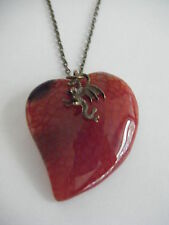 Game of Thrones 'FIRE & BLOOD' Khaleesi Dragon Vein Agate Necklace Daenerys