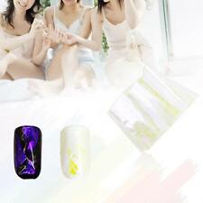 Nail Art Designed Decals Colorful Mirror Aurora Nail Stickers in Purple Light GP