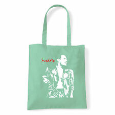 Art T-shirt, Borsa shoulder Freddie Mercury Queen, Menta, Shopper, Mare