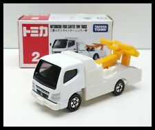 TOMICA #2 MITSUBISHI FUSO CANTER TOW TRUCK TOMY DIECAST CAR NEW WHITE