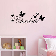 Personalized Any Name Butterfly Decor Vinyl Wall Sticker Kids Bedroom Art Decal