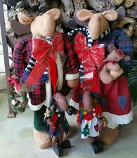 "4 Large CHRISTMAS MOOSE Display Figures Family 38"" Tallest"