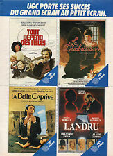 Publicité 1983  UGC porte ses succès du grand écran au petit écran