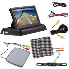 "CAR REARVIEW KIT 7"" LCD COLOR MONITOR + IR LED REVERSING PARKING BACK UP CAMERA"