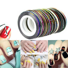 Hot 10 Colors 20m Nail Art Tips Striping Tape Line Sticker Manicure DIY Kit Hot