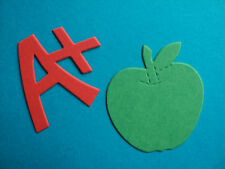 A + Apple DIE CUT forme Insegnante Scuola exams