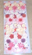 50 NEW PAPER FLOWERS RED/PINK/LAVENDER DAISIES STYLE #3 CARD MAKING FREE SHIP