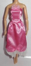 DRESS ONLY ~ MATTEL BARBIE DOLL PINK SATIN STRAPLESS EVENING GOWN ACCESSORY