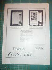 publicité ancienne Noir & blanc Frigélux  Electro-Lux