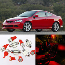 9pcs Red Interior LED Light Package Kit for Acura RSX 2002-2006