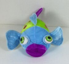"Sugar Loaf Fish Plush Big Eyes Lips Blue Green Purple 8"" 2006 Coinstar"