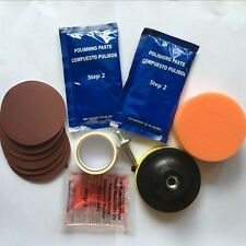 Headlight Plastic Lens Cleaning Restore Repair Polish Cleaner Car Vehicle Kit