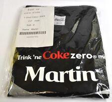 Coca-Cola Coke Martin Camiseta negra tamaño XL Nombre de pila con