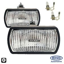 Ring 12v Car 4x4 Van Rectangular Fog Halogen Spot Lamps Lights - Pair