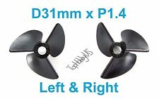1 Set D31mm 3-Blades Left&Right P1.4 RC Boat Propellers, 4mm Shaft 038-06501-02