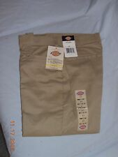 New Women's Dickies Multi-Pocket Pants Relaxed Fit Khaki (SIZE 6P)