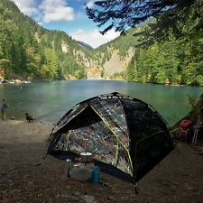 2 in 1 Instant 4 People Pop Up Tent / Shelter Hiking Camping Beach Picnic